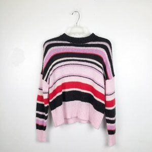 Something Navy   Stripe Multicolor Pink Sweater M